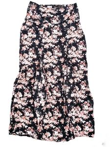 Ardene Floral Maxi Skirt with Slits in size medium